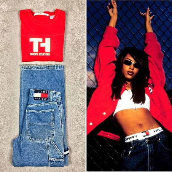 Tommy Y2K Carpenter Jeans Baggy Hip Hop Aaliyah 27
